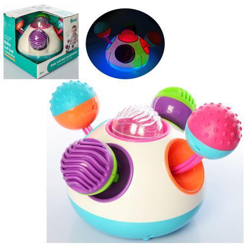 Игра для малышей 6200A музыкальная погремушка со светом на батарейках
