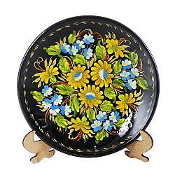 Цветочная тарелка радуга М-4