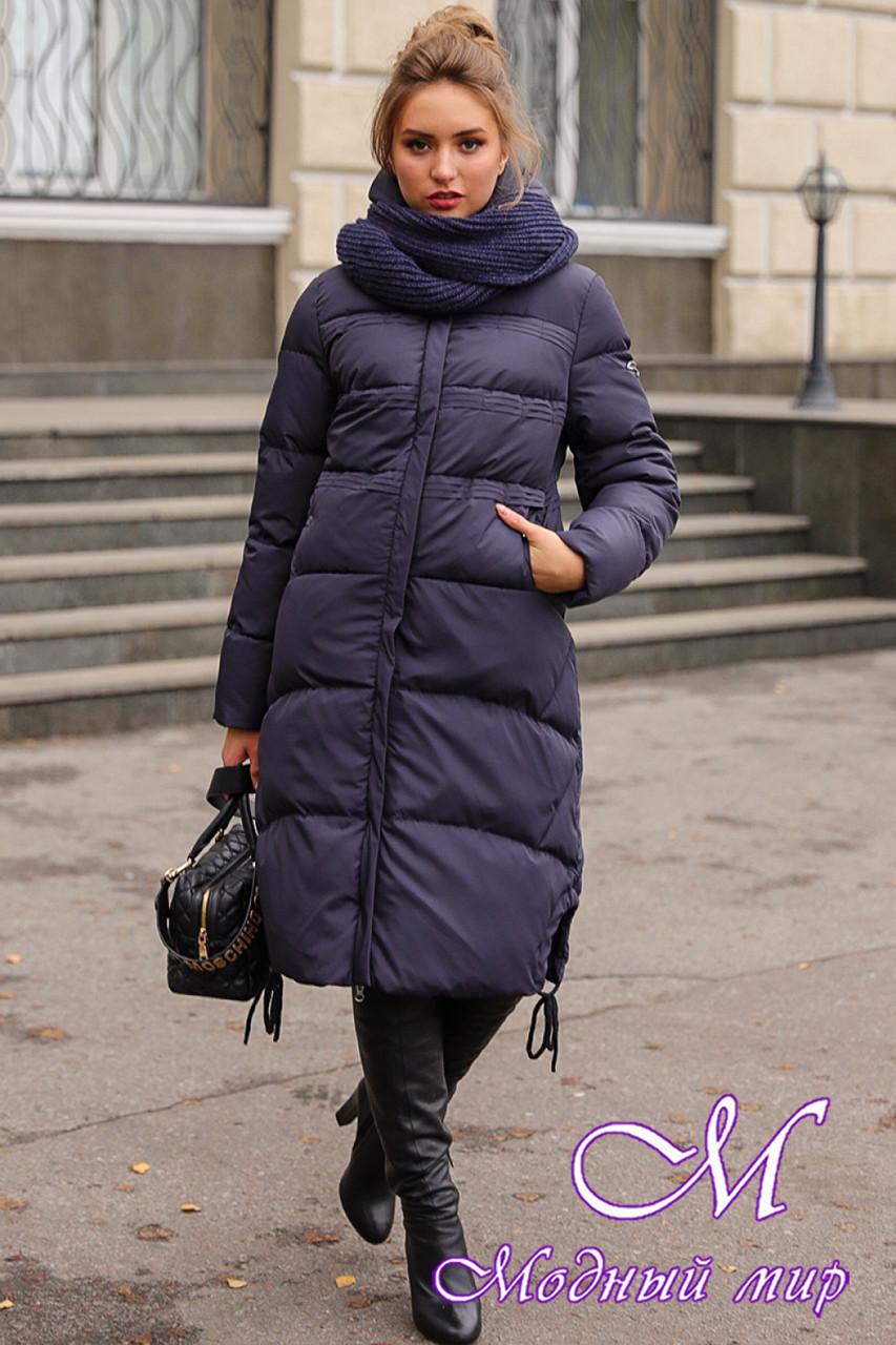 Женский длинный пуховик зима 2019 (р. 42-56) арт. Невада темно-синий