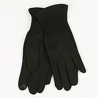 Оптом трикотажные  женские перчатки на плюше   № 19-1-3/5, фото 1