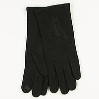 Оптом трикотажные  женские перчатки на плюше   № 19-1-3/3, фото 1