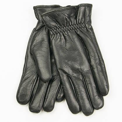 Оптом мужские  зимние перчатки из экокожи черный  № 19-1-59/2, фото 3
