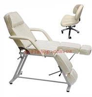 Акция! Комплект Кушетка косметологическая педикюрная и стул мастера педикюра со спинкой.