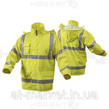 Куртка-дождевик светоотражающая, размер XL (желтая) HOEGERT HT5K263-XL