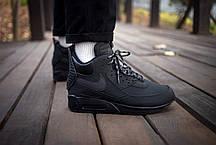"""Зимние кроссовки Nike Air Max 90 Sneakerboot """"Black"""" (Черные), фото 3"""