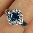 Серебряное кольцо с лондон топазом - Кольцо с топазом серебро, фото 9