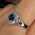 Серебряное кольцо с лондон топазом - Кольцо с топазом серебро, фото 8