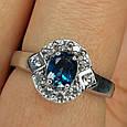 Серебряное кольцо с лондон топазом - Кольцо с топазом серебро, фото 7