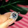 Серебряное кольцо с лондон топазом - Кольцо с топазом серебро, фото 2