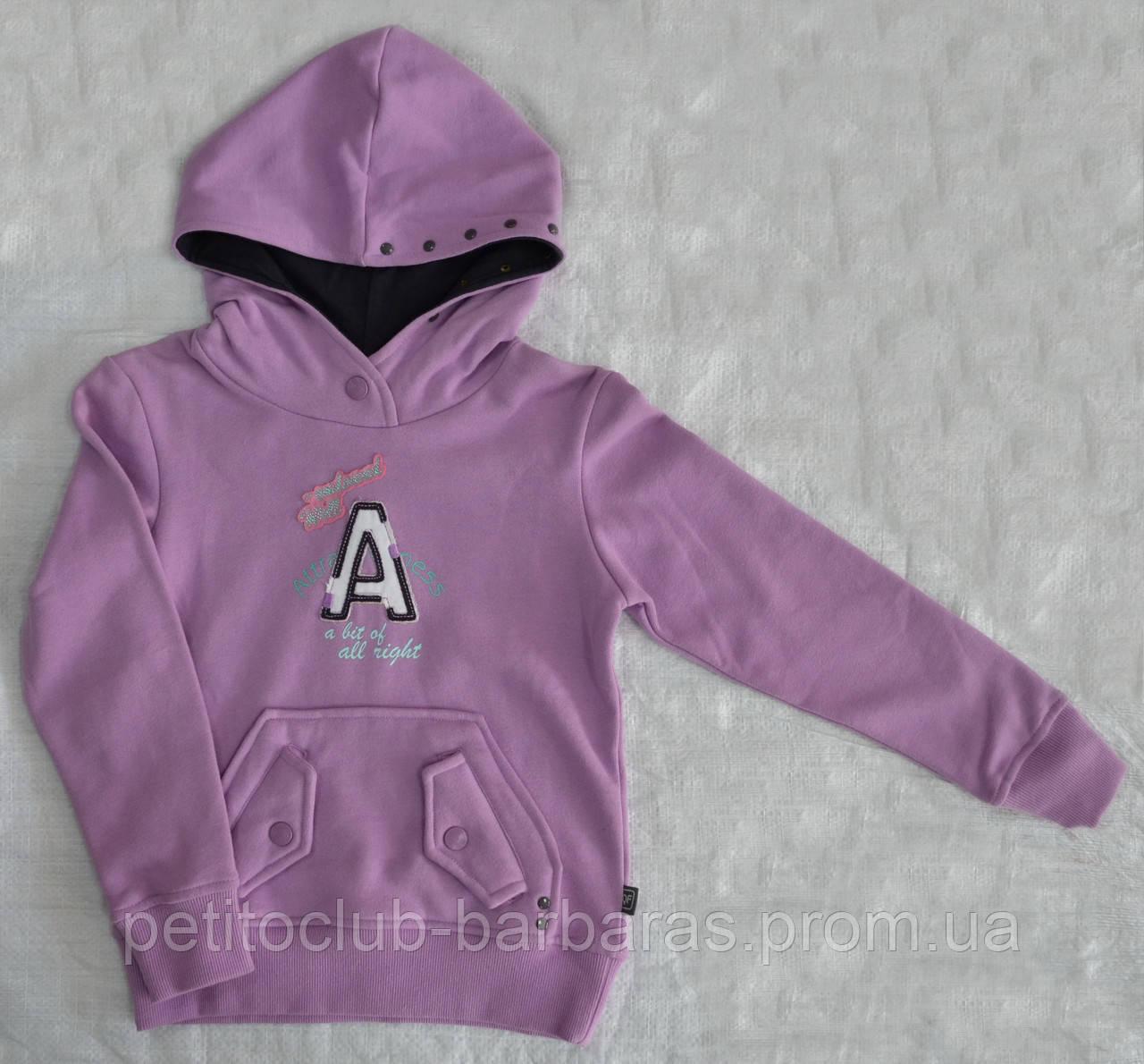 Толстовка с капюшоном фиолетовая для девочки (р. 122-146 см) (QuadriFoglio, Польша)