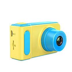 Фотоаппарат детский MHZ Photo Camera Kids V7 5369, желто-голубой