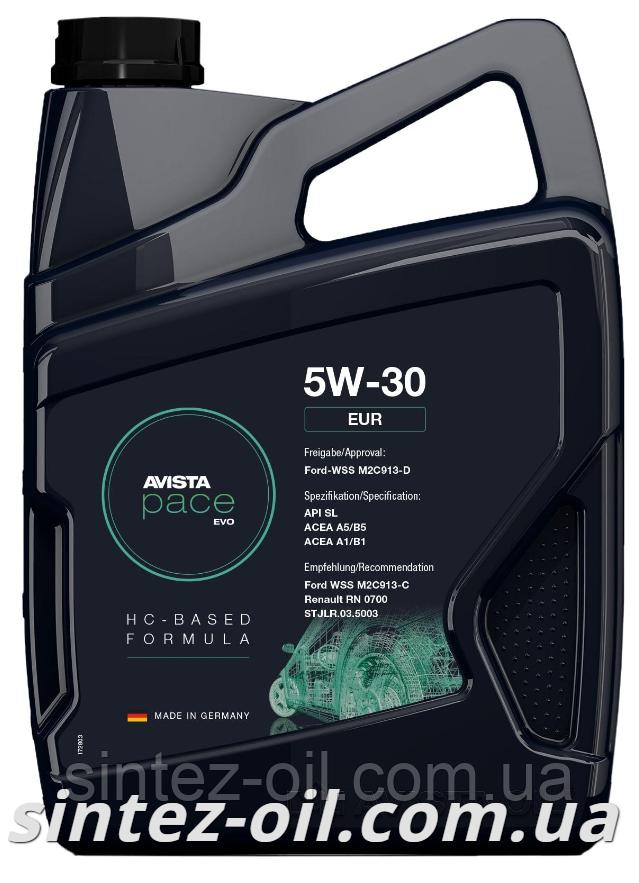 AVISTA pace EVO EUR SAE 5W-30 (5л) Моторное масло