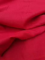Льняная костюмная ткань красного цвета