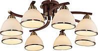 Потолочный светильник Altalusse INL-9287C-08 Antique brass & Walnut Е14 8х40Вт