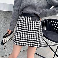 Женская короткая теплая юбка