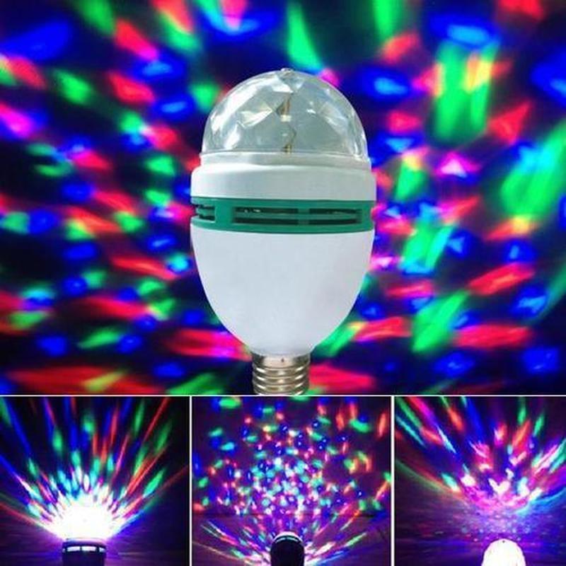 Светодиодная вращающаяся лампочка | Светомузыка | Доско шар | Диско лампа LY-399