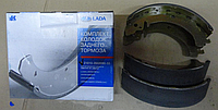 Колодка тормозная ВАЗ 2101-07 задние (комплект 4 шт) пр-во АвтоВаз 21010-350209055