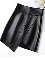Женская короткая  юбка экокожа, фото 1