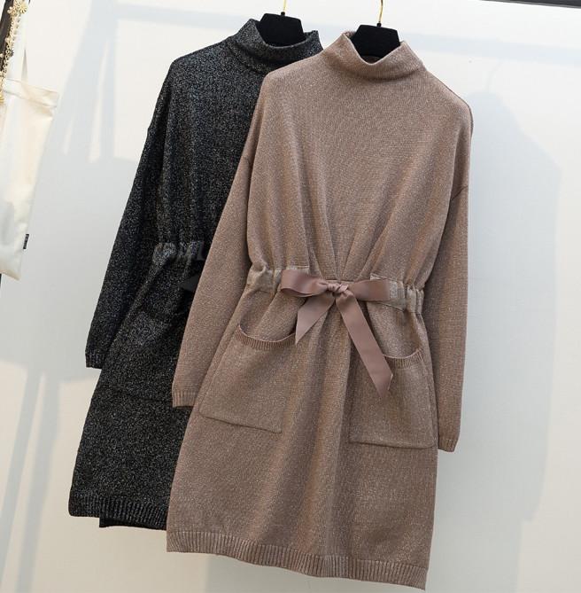 Женственное люрексовое платье-туника 46-48 (в расцветках)