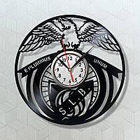ФК Європа Бенфика Лисабон Часы на стену Часы виниловые Часы в кабинет Оригинальный подарок Часи футбол 30 см