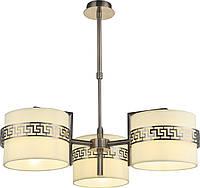 Люстра Altalusse INL-9370P-03 Antique brass & Beige E14 3х40Вт