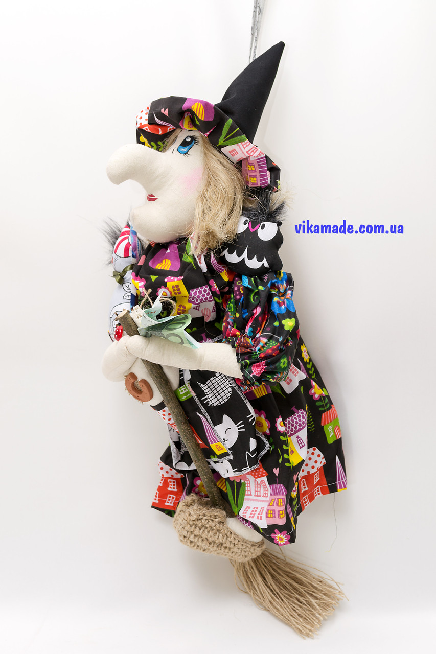 Текстильная кукла Ведьмица большая летящая