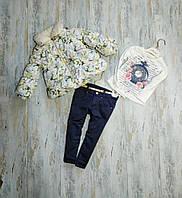 Детский зимний комплект для девочки Турция (на рост 86, 92)