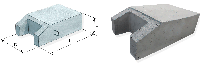 Блок упору бетонний Б9