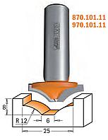 Фреза фигирейная горизонтальная CMT 25х6х8х12 мм хв.8мм (арт 970.101.11), фото 1