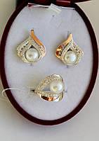 Срібний набір з золотими пластинами Афіна, фото 1