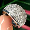 Серебряное кольцо с фианитами усыпка - Женское серебряное кольцо усыпанное камнями, фото 5