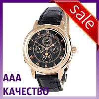 Часы наручные мужские ААА класса Patek Philippe Grand Complications 5002 Sky Moon Black-Gold-Black