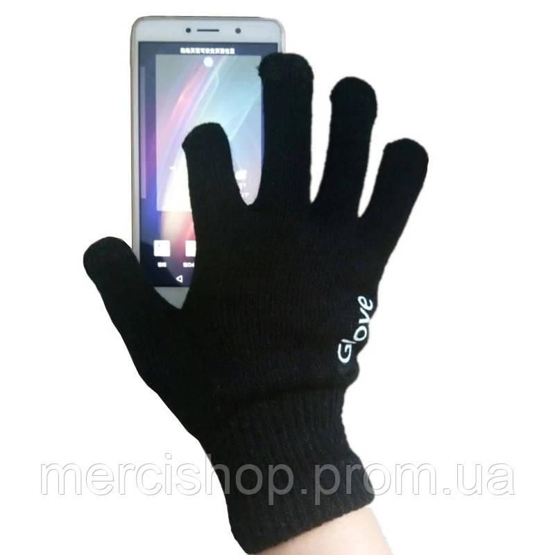 Чёрные сенсорные перчатки IGloves