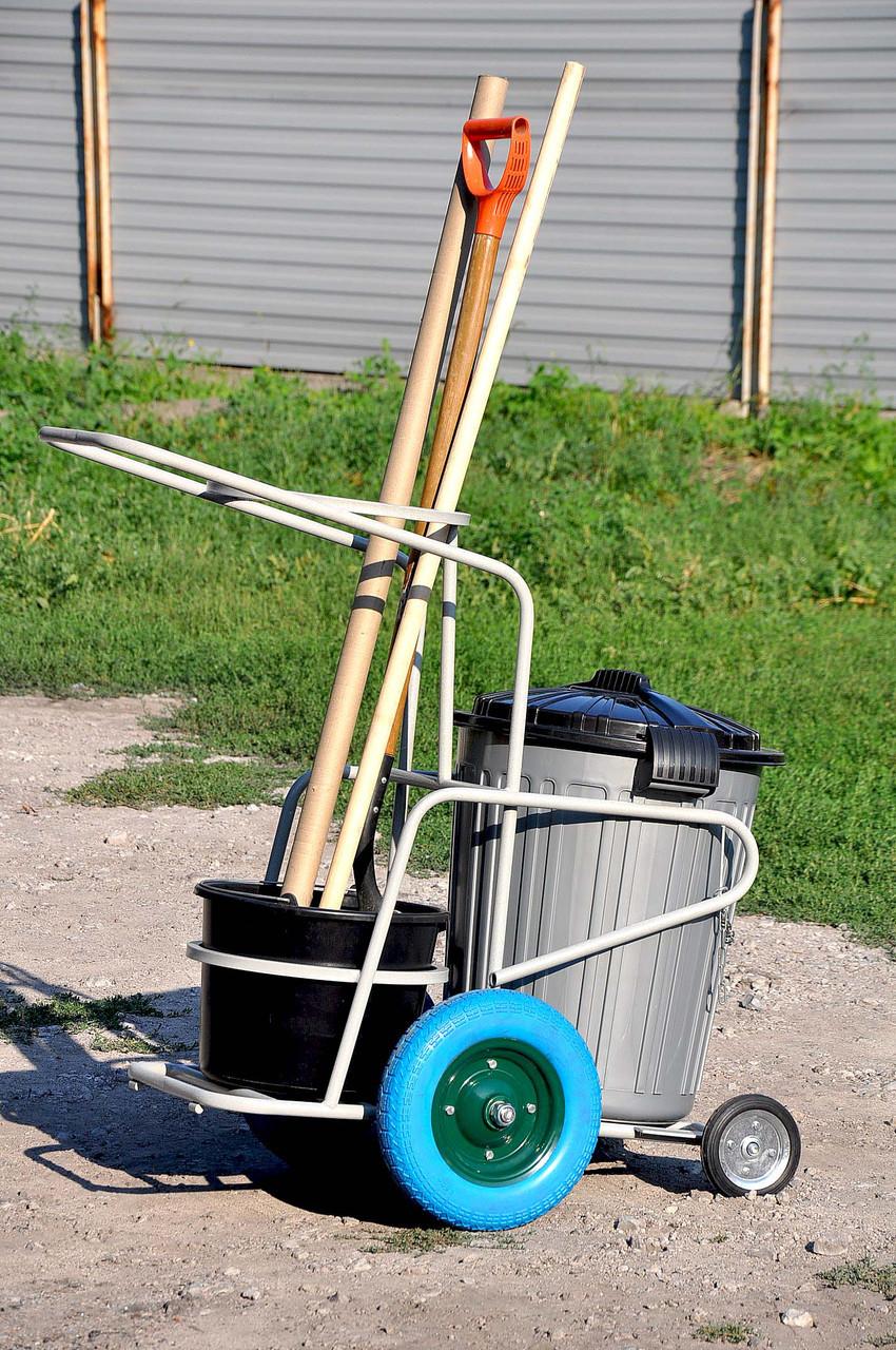 Візок для прибирання на вулиці під бак від 70 до 120 л.