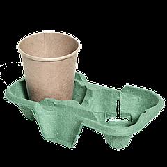 Подставка для стакана 2-секции, 1шт (1уп/150шт) Зеленый