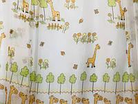 """Тюль в детскую """"Маленькие Жирафы"""" шифон Турция высота 2,95 м, фото 1"""