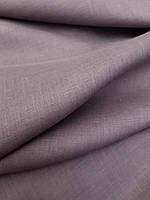 Льняная сорочечная ткань серо-бисквитного цвета, фото 1