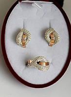 Серебряный набор с золотыми пластинами Вдохновение, фото 1