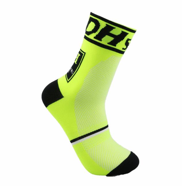Компрессионные носки для велоспорта DH Sports Short для мужчин и женщин (черно-салатовый)