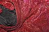Трикотаж стрейчовий, червоний, не осипається, гофрирований паралельно ширині 1,32 м