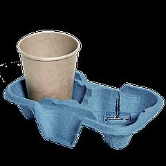 Подставка для стакана 2-секции, 1шт (1уп/150шт) Синий