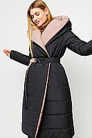 Женское двухстороннее зимнее стеганое пальто-одеяло, фото 1