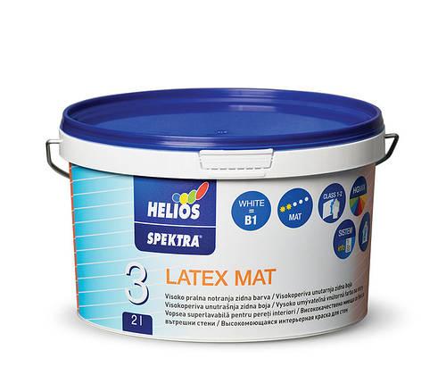 Моющаяся краска для стен HELIOS SPEKTRA Latex Mat, 10л, фото 2