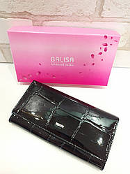Женский кошелек BALISA из натуральной кожи (Черный)