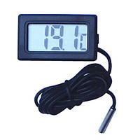 Цифровий термометр з виносним датчиком 3м для авто, акваріума, квартири, фото 1