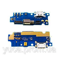Разъём зарядки для MEIZU M2 Mini на плате с микрофоном и компонентами