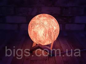 Ночник светильник Луна с пультом на аккумуляторе 15 см 16 цветов