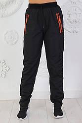 Женские спортивные штаны из плащевки на флисе размеры 48-56
