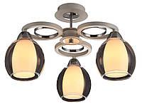 Потолочный светильник Altalusse INL-9322C-03 White & Chrome Е14 3х40Вт
