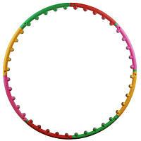 Хулахуп массажный гимнастический легкий обруч с 40 шариками Profi M 0251